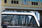 Burrard mostu wejście — Zdjęcie stockowe