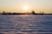 Pôr do sol de inverno — Fotografia Stock