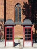 Two Telephone Booths — Stock Photo