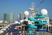 Cruise Ship Water Slide — Stock Photo