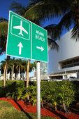 Znak Miami beach — Zdjęcie stockowe