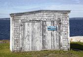 Wooden garage,Canada — Stock Photo