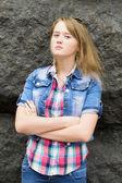 Bir kızın portresi — Stok fotoğraf