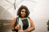 Translucent umbrella — Stock Photo