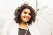Translucent umbrella — Stock Photo