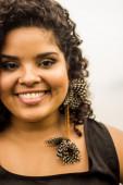 Brazilian girl face close up — Stock Photo