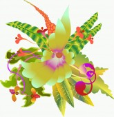 Stylized bouquet — Stock Photo