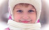 冬の女の子の肖像画 — ストック写真