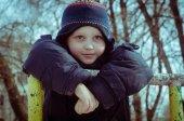 Boy walking — Stock Photo
