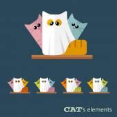 Vector cats elements — Stock Photo