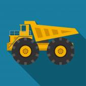 Vector color flat heavy machine icon — Vector de stock