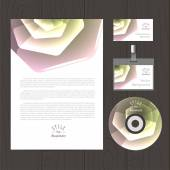 Vector abstract background with hexagonal flower — Stock Vector