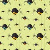 Vector halloween spider seamless background. Eps10 — ストックベクタ
