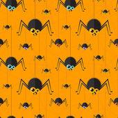 Vector halloween spider seamless background. Eps10 — Stock Vector