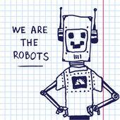 Vecteur part dessiner robot exersize livre. Eps10 — Vecteur