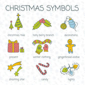 Vector christmas doodles — Stock vektor