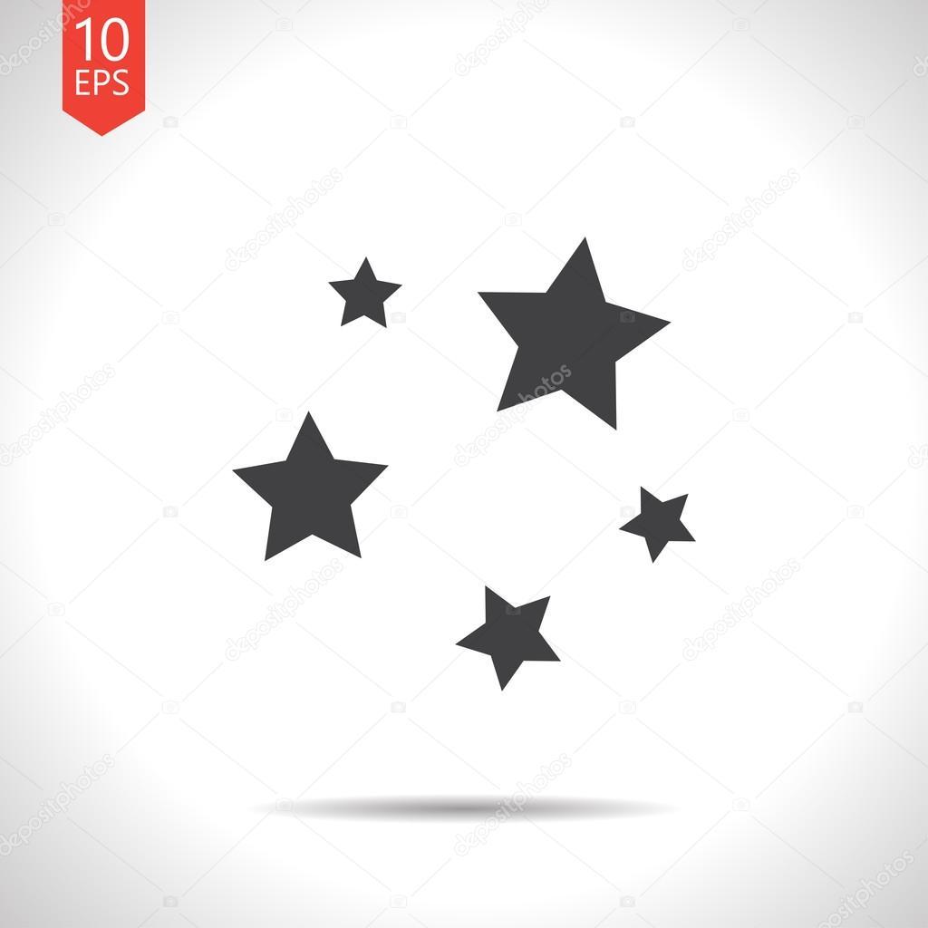矢量星星图标.eps10