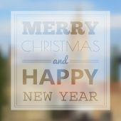 Cartolina di Natale con il disegno di tipografia — Vettoriale Stock