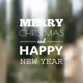 Christmas card with typography design — Vetor de Stock