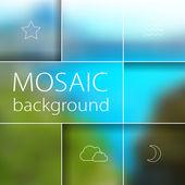 Mosaic blurred background — Stock vektor