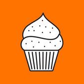 Flat cupcake icon — Stock Vector