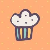 Easter cake icon — Stockvector
