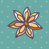 Flat Icon of star anise — Stock vektor