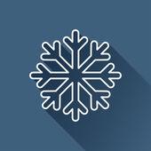 Flat snowflake icon — Stock Vector