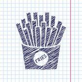 Vector fries icon. Eps10 — Stock Vector