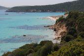 Blue sea with beach — Photo