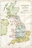 9th Century Map Of Great Britain — Stock Photo