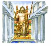 Statue of Zeus at Olympia — Stock Photo