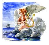Siren. Mitoloji — Stok fotoğraf