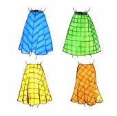 Fashion female models skirts. Options — Stock Photo