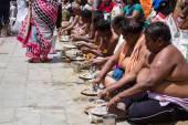 Tarpana Ritual in India — Stock Photo