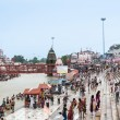 Crowds on the ghats at Haridwar, India. — Stock Photo #64421949
