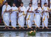 Hindu Priests in Haridwar, India. — Stock Photo