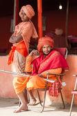 Hindu Priests at the Kumbha Mela in India. — Stock Photo