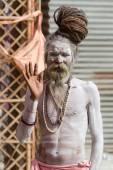 A Hindu priest at the Kumbha Mela in India. — Photo