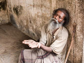 Old Indian Beggar — Stock Photo