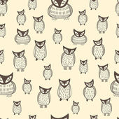 Halloween seamless owls pattern — Stockvektor