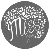 Miss you. Doodle style greeting card — Stock Vector