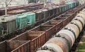 Old freight trains — Stock Photo