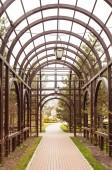 Archway in garden — Stockfoto