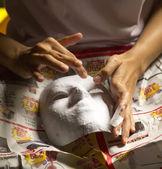 Dvě ruce dělá masku — Stock fotografie