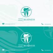 Dental business card template — Stockvector