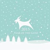 Year of Goat — Stock Vector
