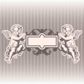 Anjos no estilo de um barroco — Vetor de Stock