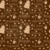 Sömlös kaffe mönster — Stockvektor