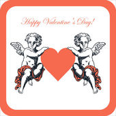 Sweet cupid - greetings card for Valentines day — Stock Vector